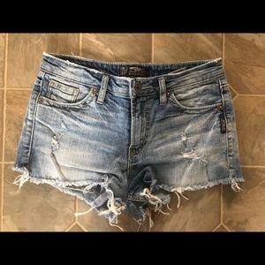 Silver Aiko Jean Shorts